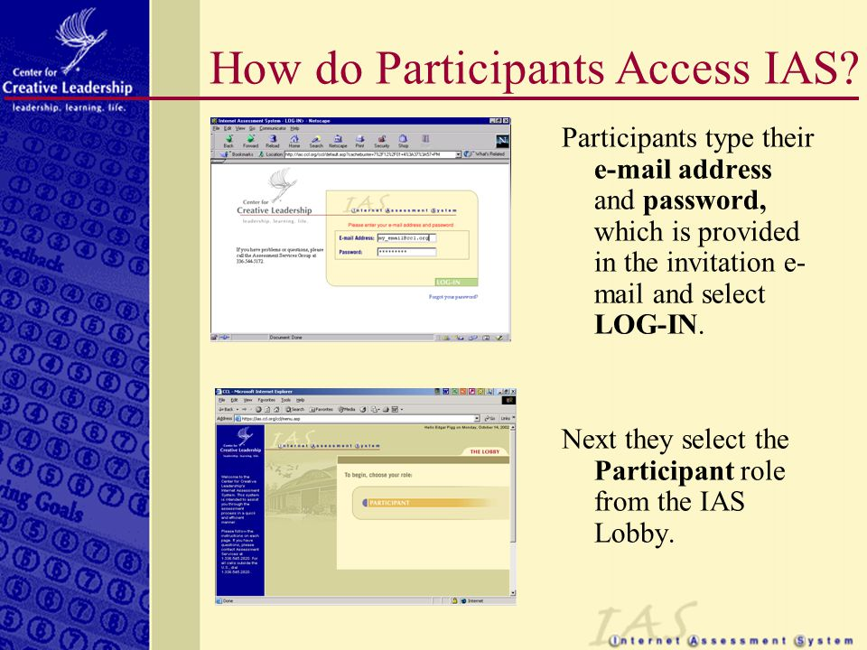How do Participants Access IAS.