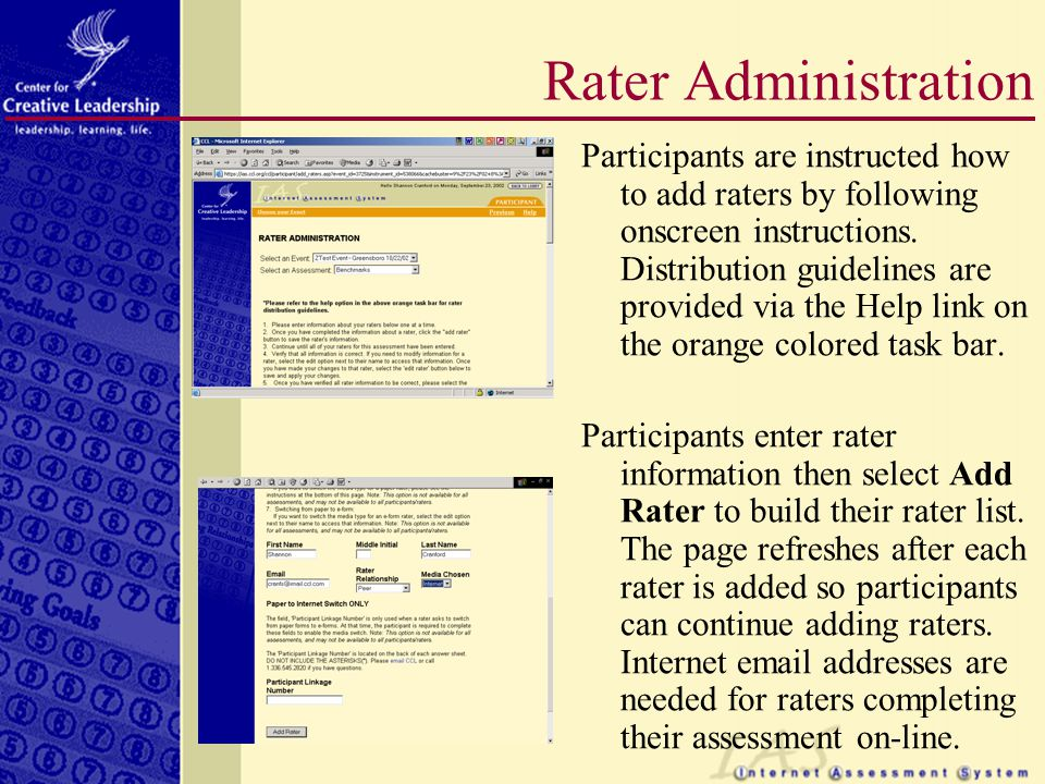 Participants may select the Save and Exit link and return to the document later, if needed.