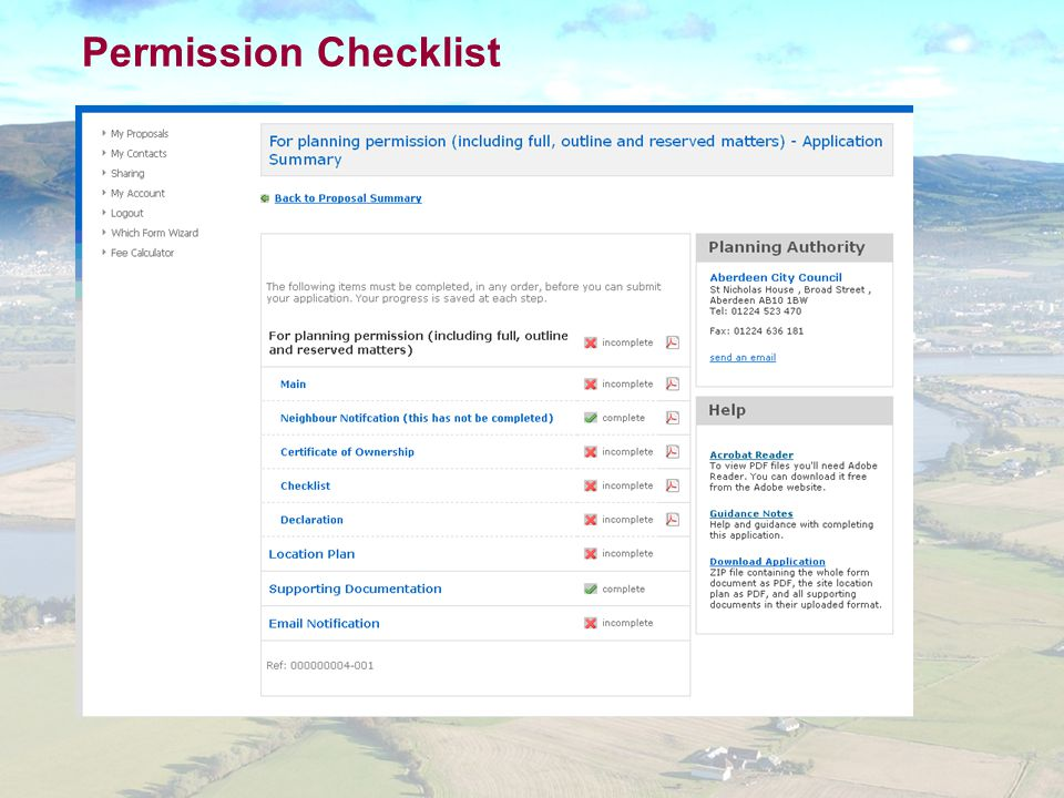 Permission Checklist