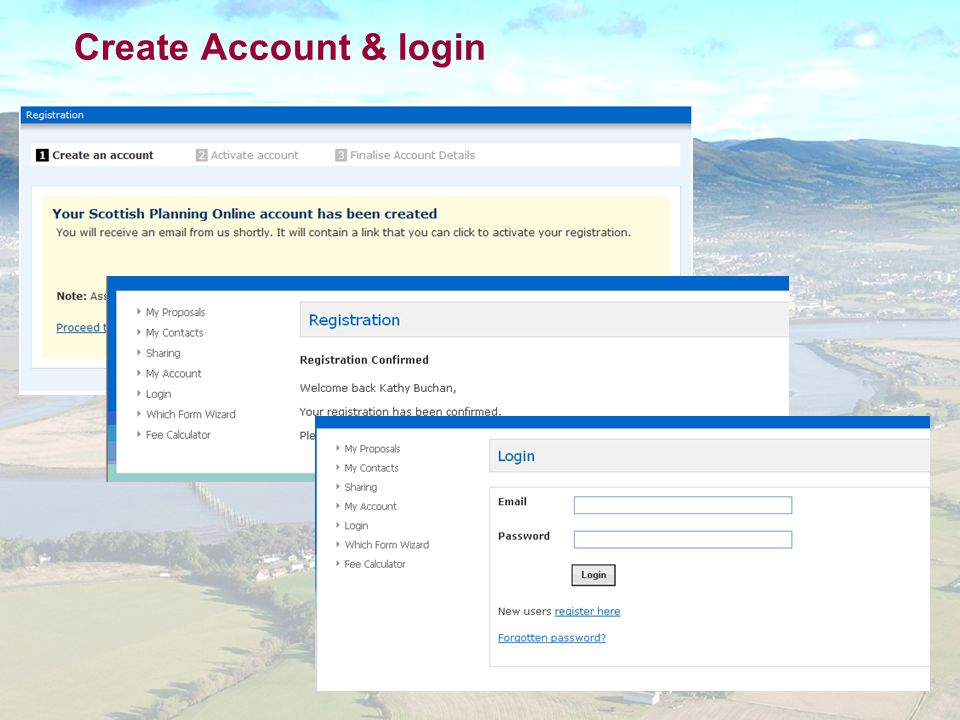 Create Account & login