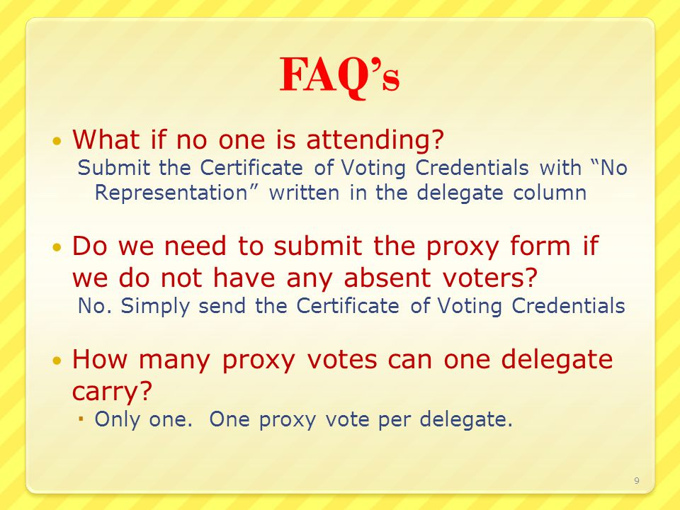 FAQ's May I transfer my registration.