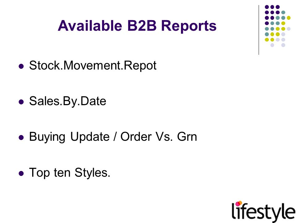 Stock Movement Report Stock.Movement.Report(SMR) Gives the complete transaction of the Stocks and sales position.