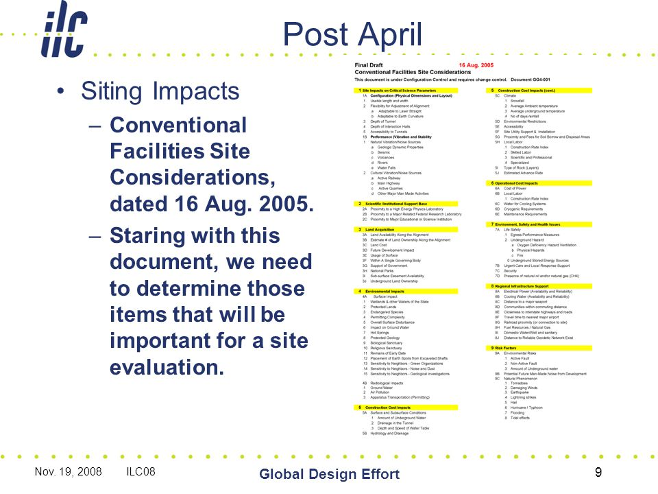 POST April Unit costs for required utilities such as electric power, cooling water and access roads will be developed.