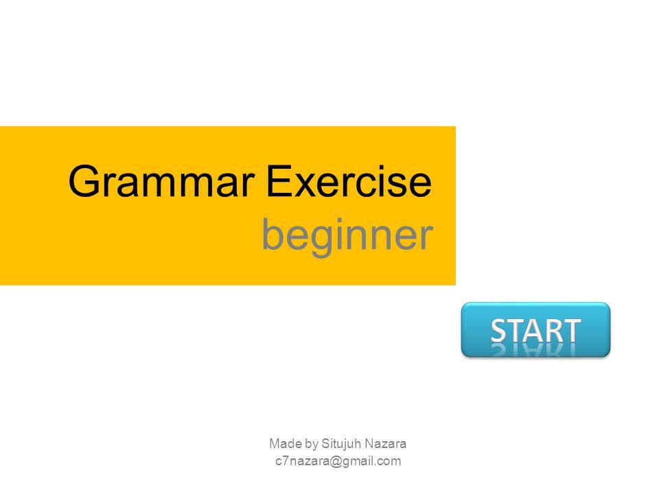 Grammar Exercise beginner Made by Situjuh Nazara c7nazara@gmail.com