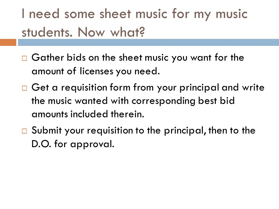 I need some sheet music for my music students. Now what.