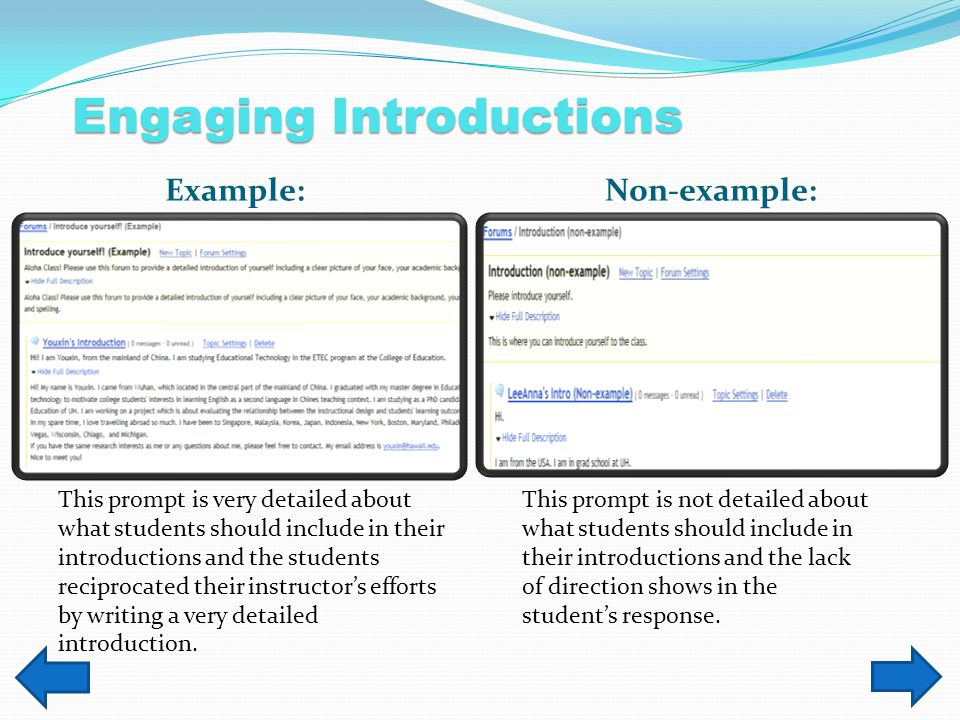 Scenario 1 The following tools will allow the students to upload files and comment on each others introductions.