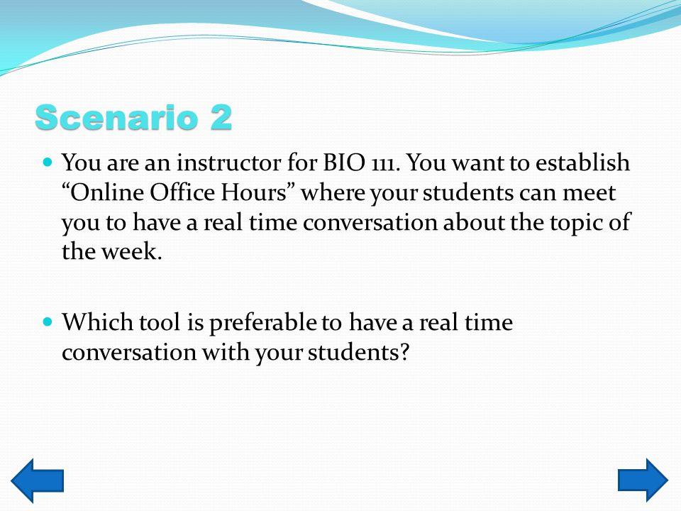 Scenario 1, Progression Click to view the video.