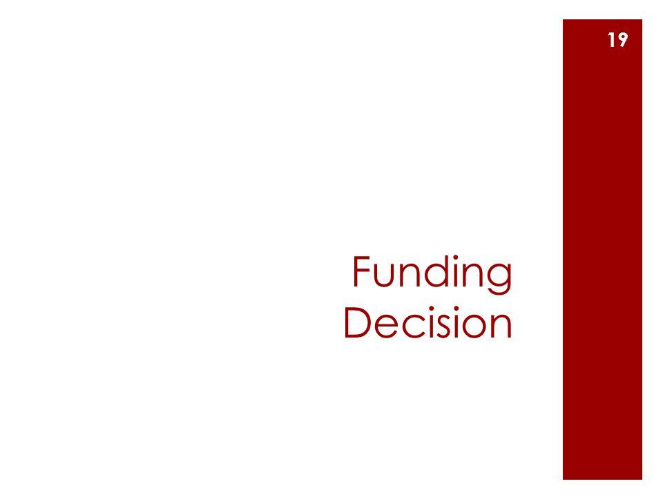 Funding Decision 19