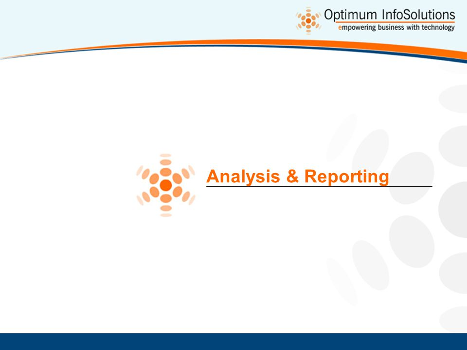 Analysis & Reporting