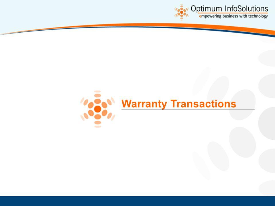 Warranty Transactions