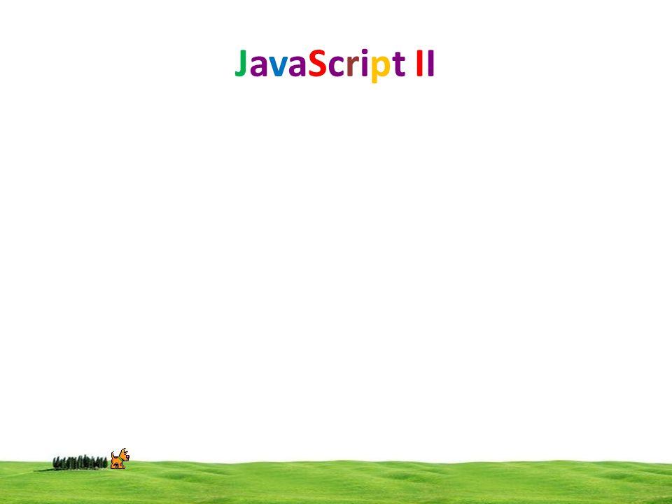 JavaScript II