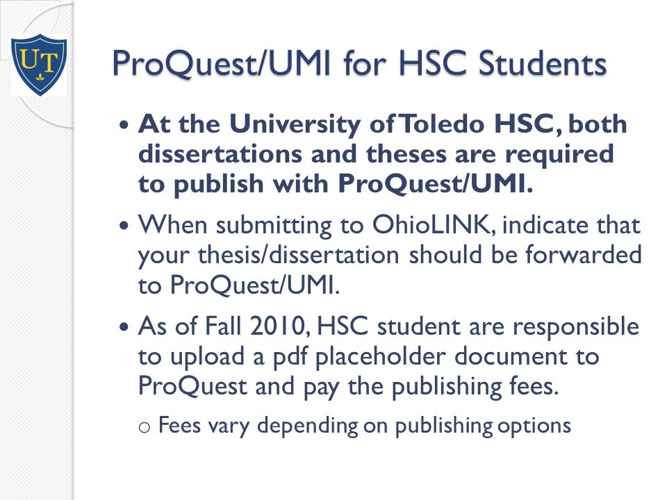 ProQuest/UMI Copyrighting ◦ Complex series of rules and regulations.