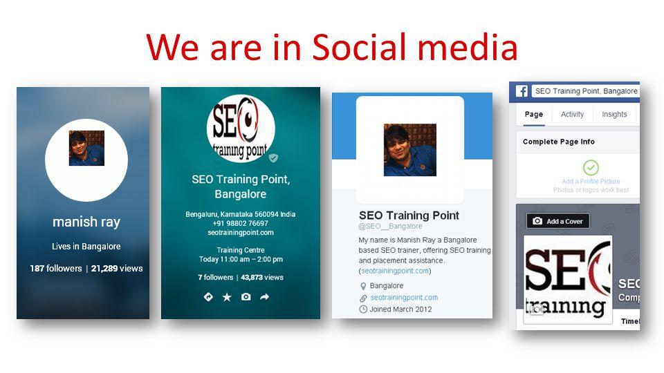 We are in Social media