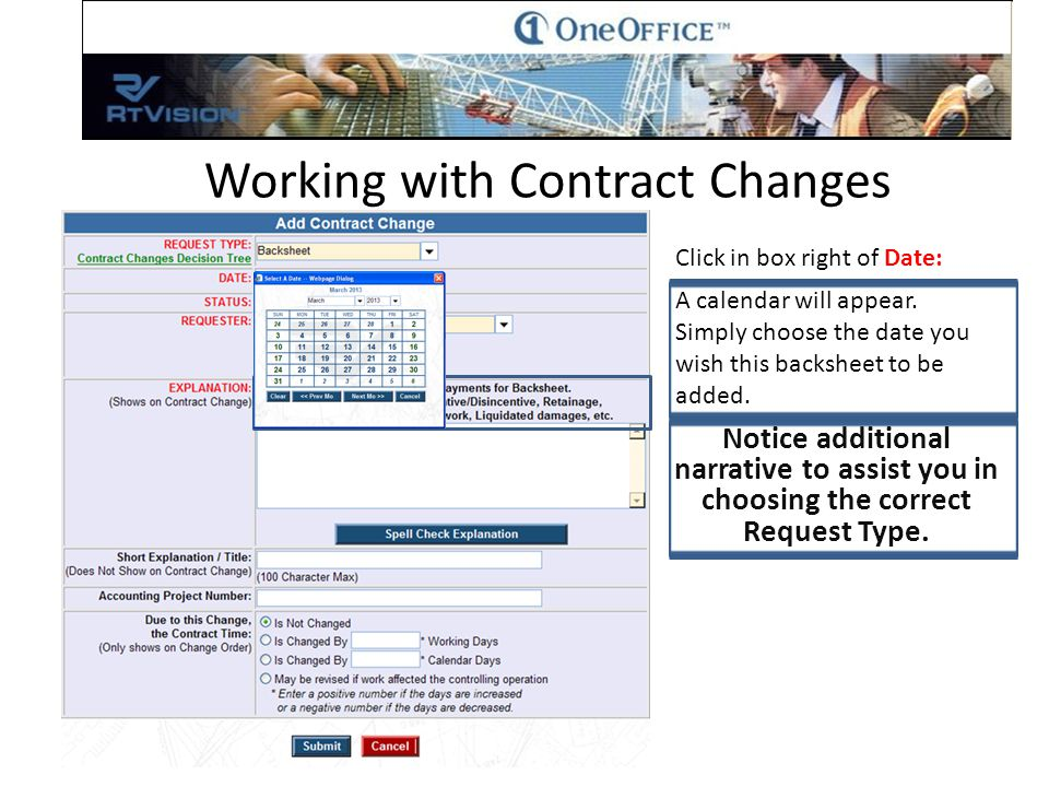 From this window we can continue to Add Items to Backsheet 1 Modify or Delete previously added items Or navigate to Back to Backsheet 1 Working with Contract Changes For the purpose of this instruction select Back to Backsheet 1