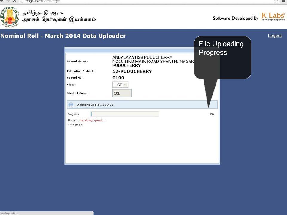 File Uploading Progress