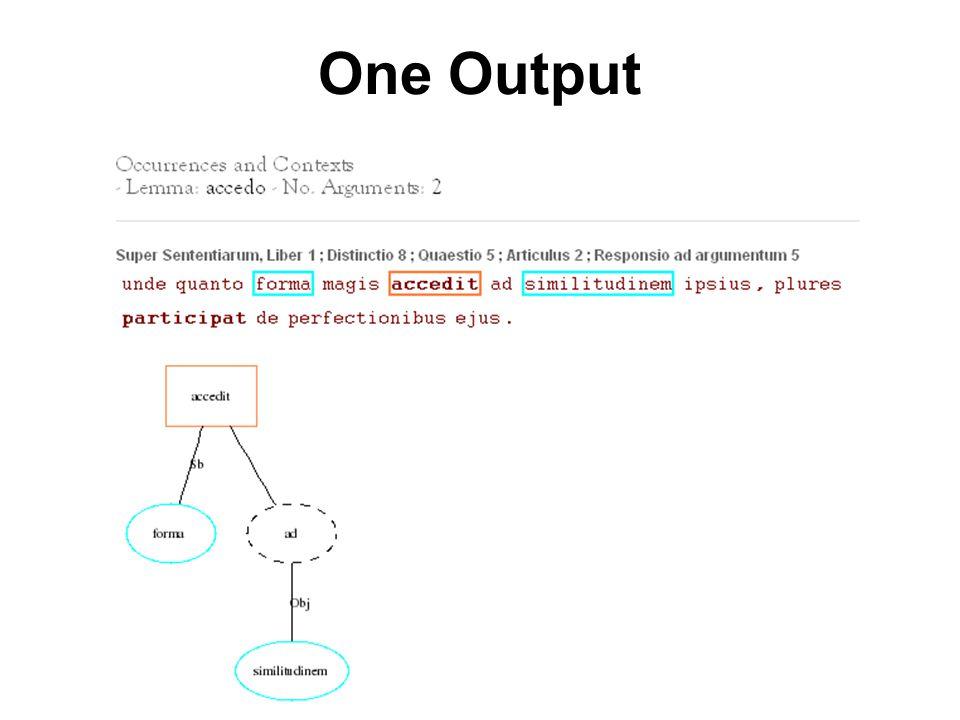 One Output
