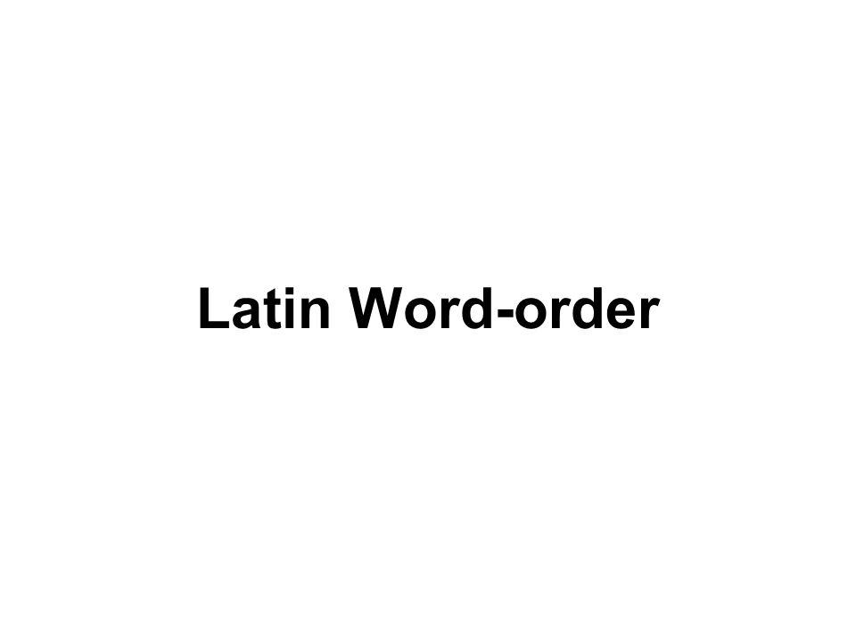 Latin Word-order
