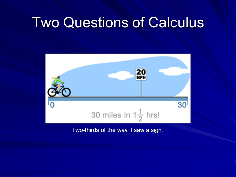 Two Questions of Calculus Did I break the law?