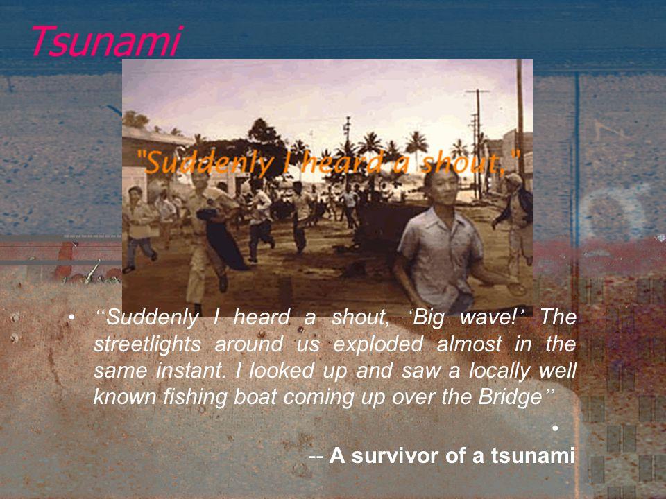 Tsunami On 26 December 2004, a great tsunami occurred.