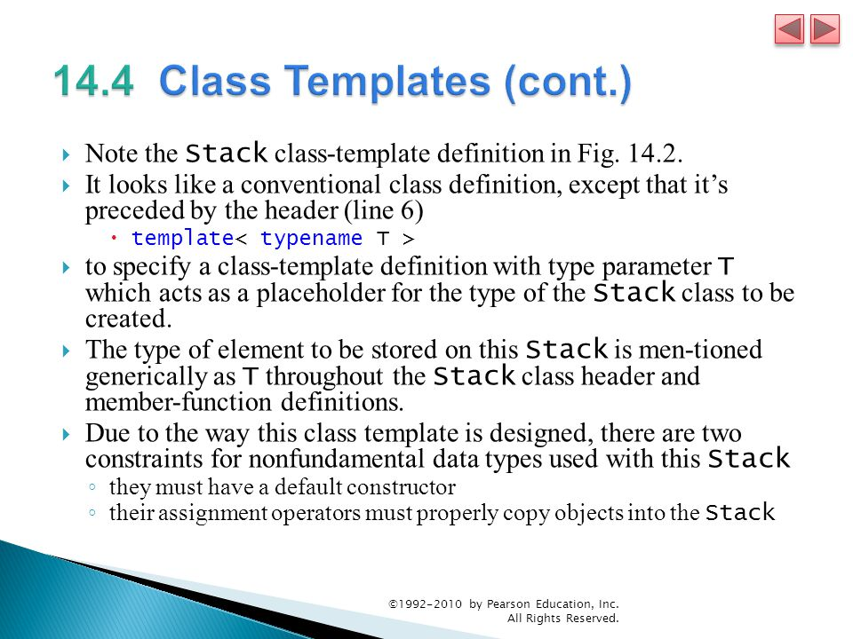  Note the Stack class-template definition in Fig.