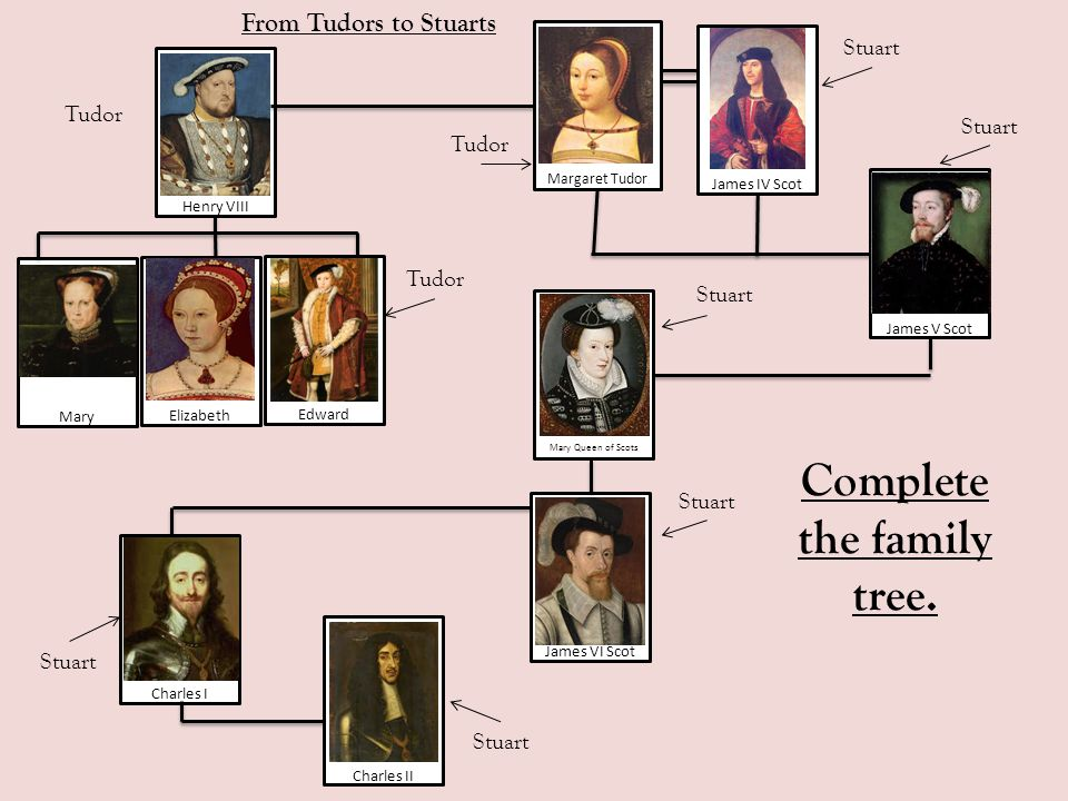 From Tudors to Stuarts The Stuart Reign: timeline 1603 1685 Mark the following events on your timeline: Each time a monarch changes (there are 3 !) Plague Fire of London Gunpowder plot Start of Civil War End of Civil War England was a republic (no King or Queen!)