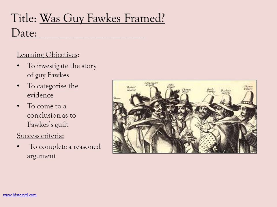 Was Guy Fawkes Framed.What can I learn from this source.
