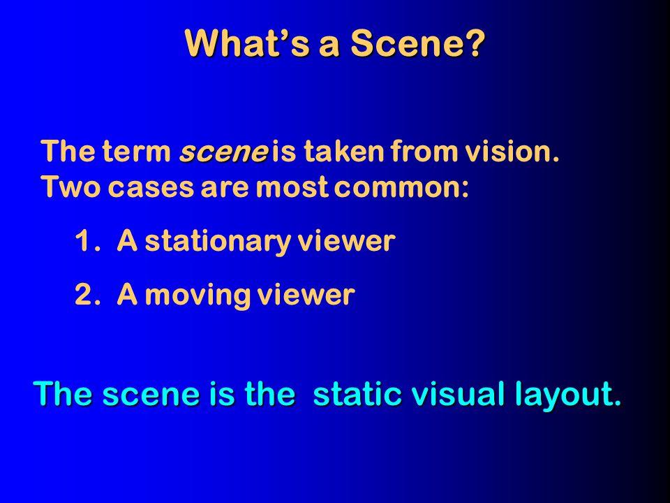 I. Scene Analysis: A Neo Gestalt view