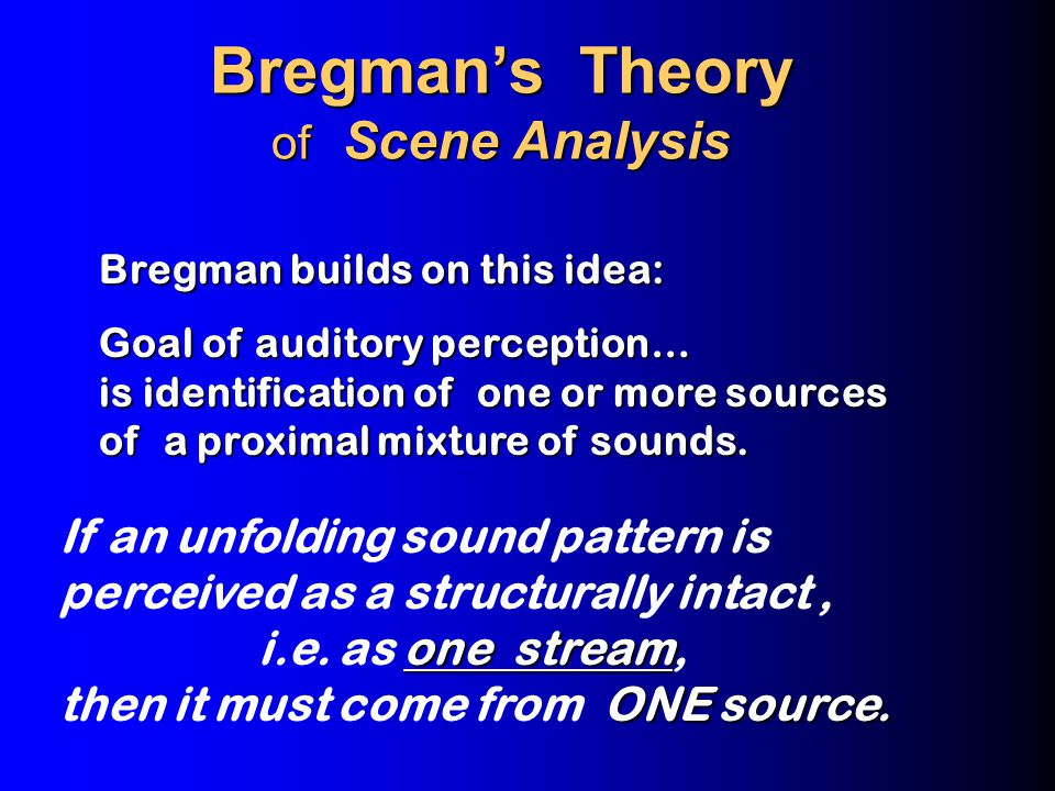 Rhythm Perception interleaved streams Speeding up a sequence can break it, perceptually, into interleaved streams This changes its perceived rhythm.