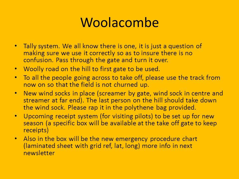 Woolacombe Tally system.