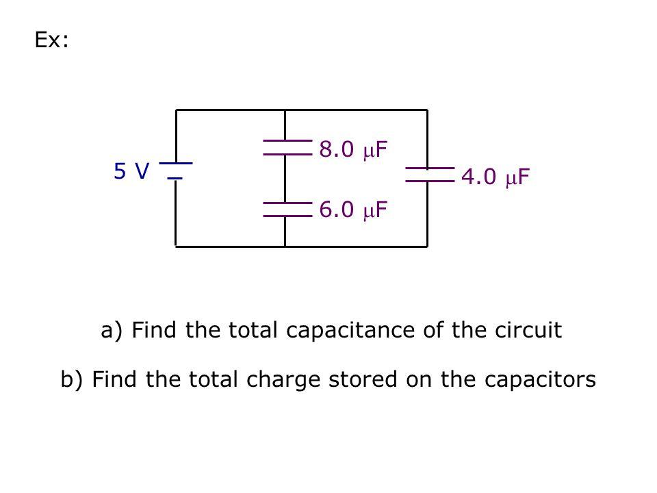 Capacitors in Circuits A d  Recall: C  A C  1/d C1C1 V C2C2 Capacitors in Parallel: C P = C 1 + C 2 Capacitors in Series: C1C1 V C2C2