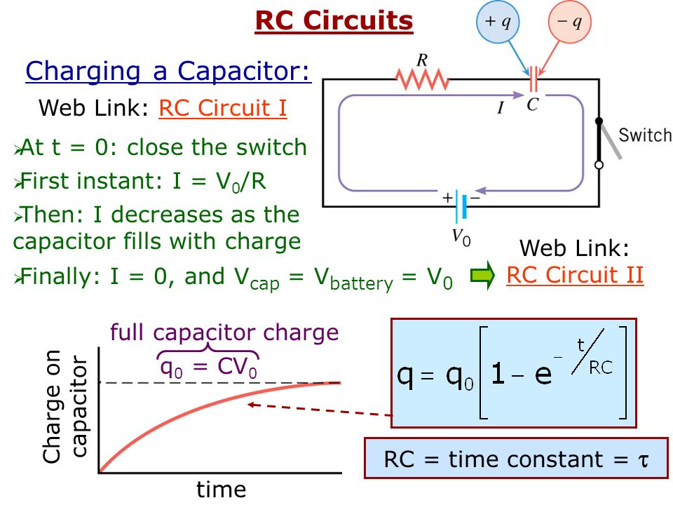 Ex: 8.0 F 5 V 6.0 F 4.0 F a) Find the total capacitance of the circuit b) Find the total charge stored on the capacitors