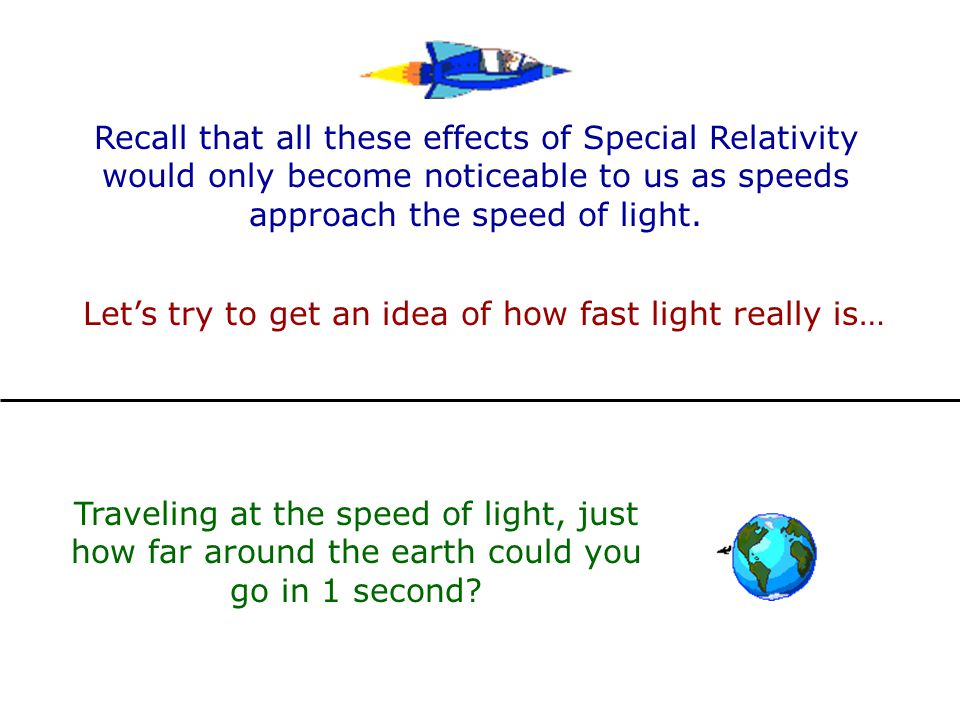 Recall:E 0 = mc 2 = rest energy If an object is moving, its total energy is the sum of its rest energy and its kinetic energy: E = E 0 + KE We can solve for KE… Relativistic Kinetic Energy What happens to this equation if an object is traveling at the speed of light.