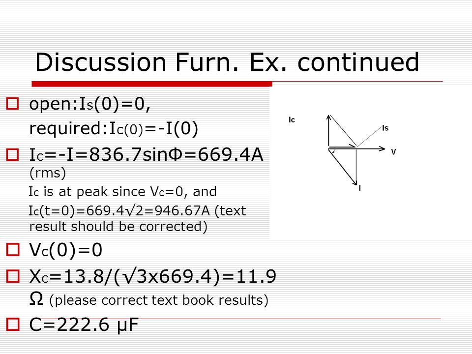 Discussion Furn. Ex.