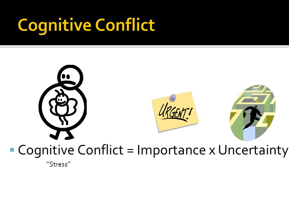  Cognitive Conflict = Importance x Uncertainty Stress