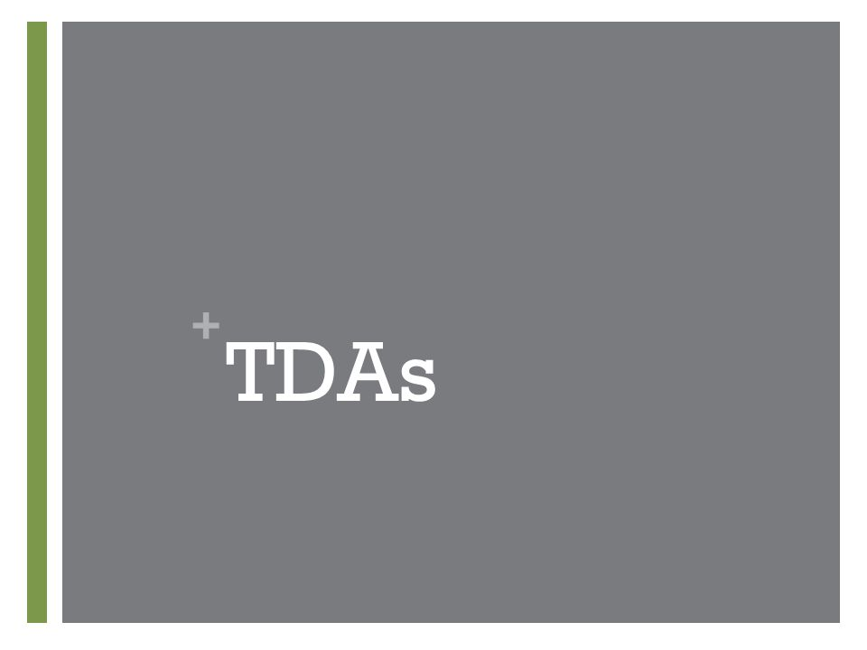 + TDAs