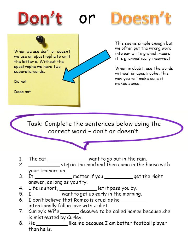 Using the rules about semicolons on the previous page, write a short story using the items below and all different styles of semicolon.