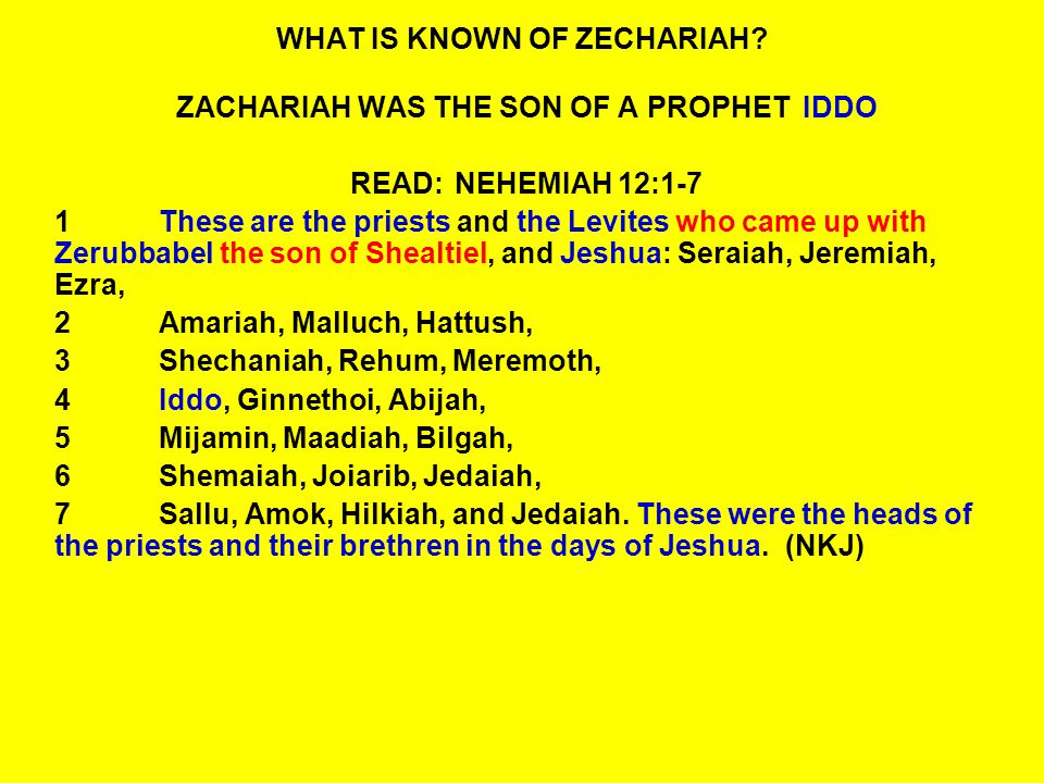QUESTIONS: ZECHARIAH 1:10-12 10The man who stood among the myrtle trees answered and said, These are the ones whom the LORD has sent to walk to and fro throughout the earth.