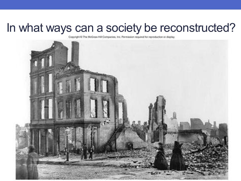 Lincoln's Plan for Reconstruction Radical Republican vision of Reconstruction Johnson's Presidential Reconstruction