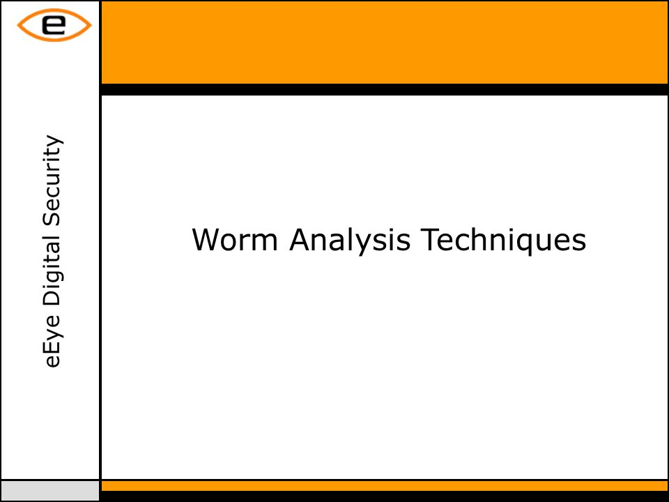 eEye Digital Security Worm Analysis Techniques