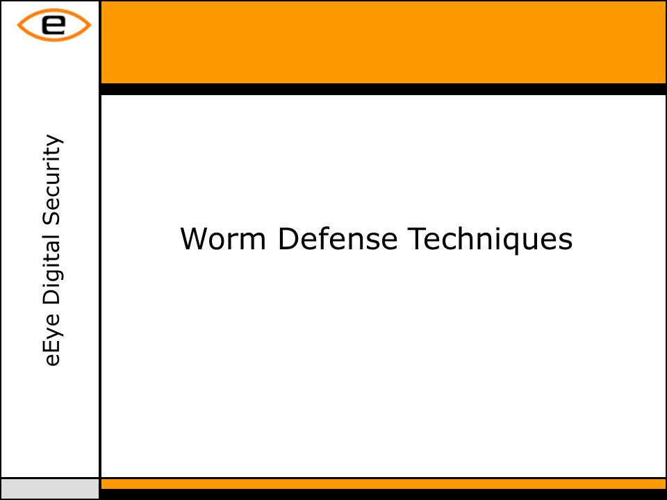 eEye Digital Security Worm Defense Techniques