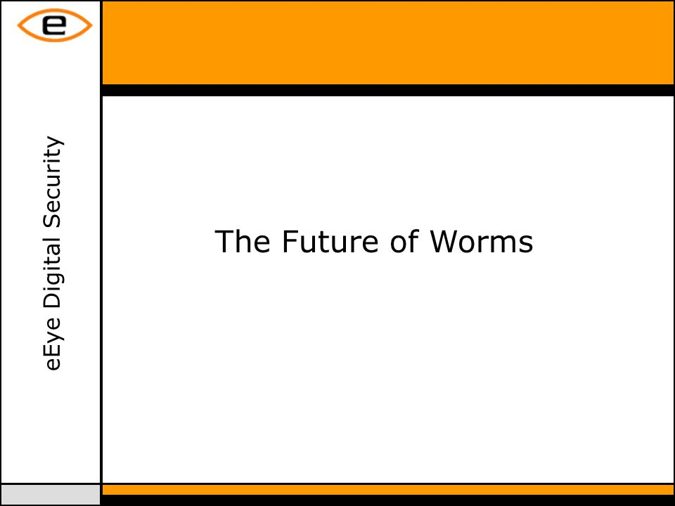 eEye Digital Security The Future of Worms