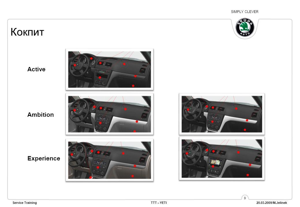 SIMPLY CLEVER Service TrainingTTT – YETI 20.03.2009/M.Jelinek 10