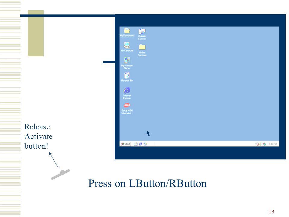 13 Release Activate button! Press on LButton/RButton