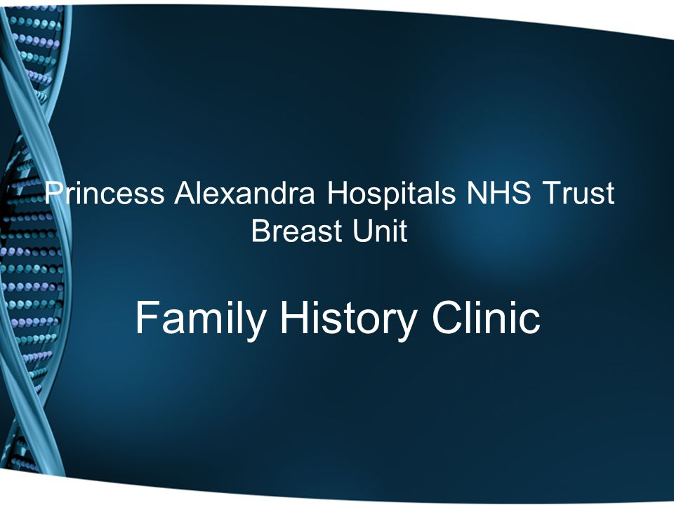 Princess Alexandra Hospitals NHS Trust Breast Unit Family History Clinic