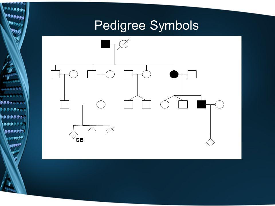 Pedigree Symbols SB