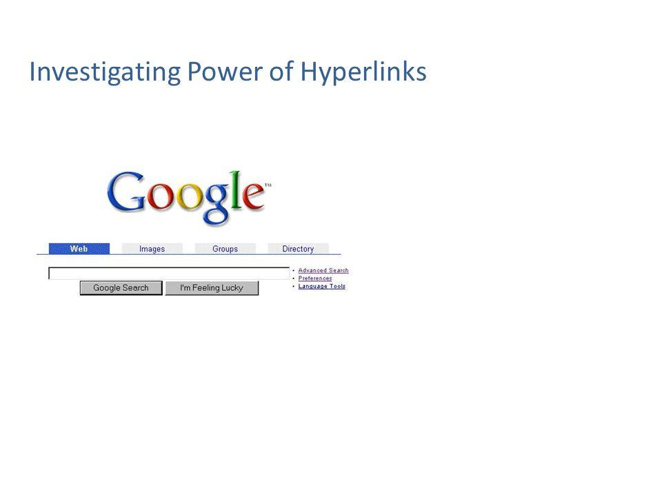 Investigating Power of Hyperlinks