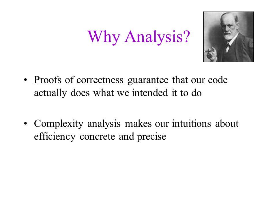 Why Analysis.