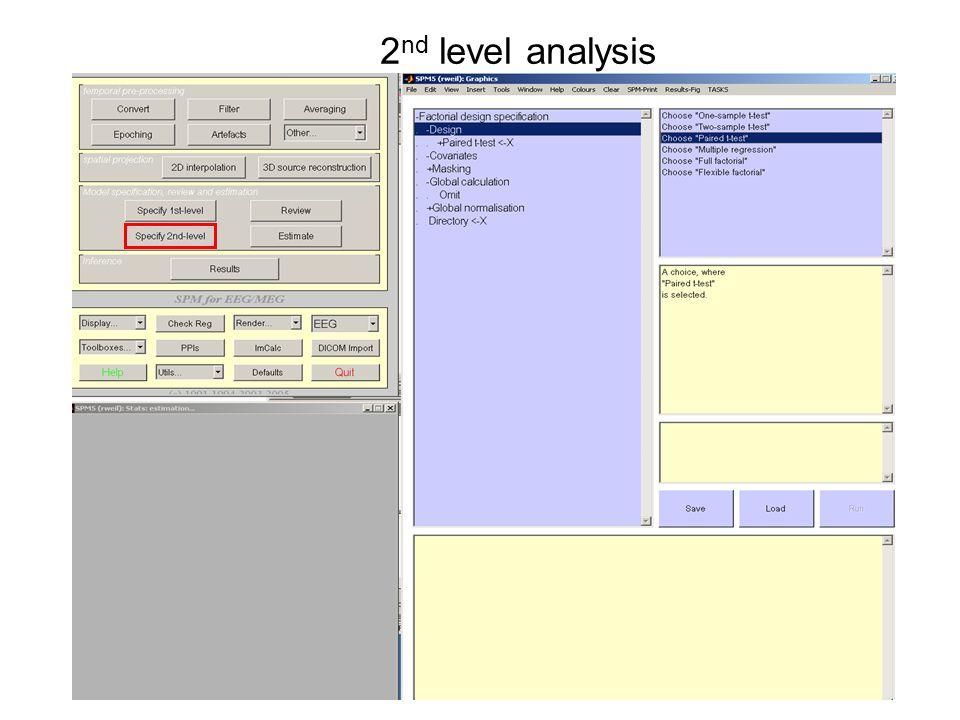 2 nd level analysis