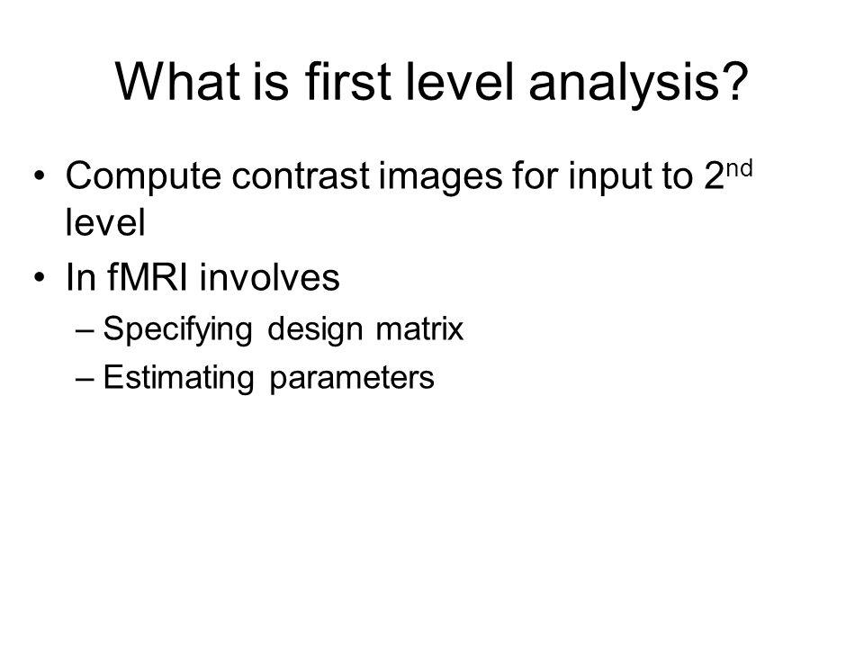 T = 249! 2 nd level analysis