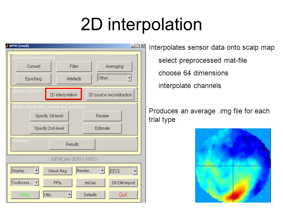 1 st Level Add directory containing 2D-interpolated data